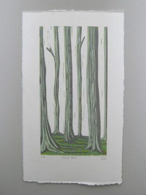 Forest Park Linocut Print Margaret White