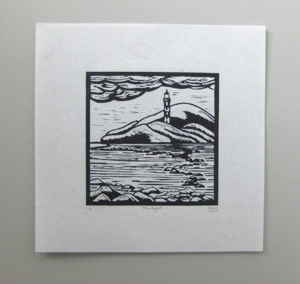 Margaret White Art Linocut The Light