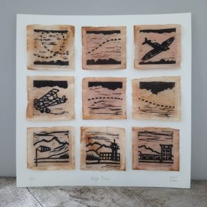 Aviation Print on Teabags Margaret White Art NZ
