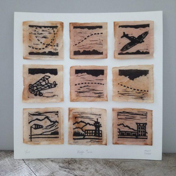 Aviation Print on Teabags Margaret White Art NZ