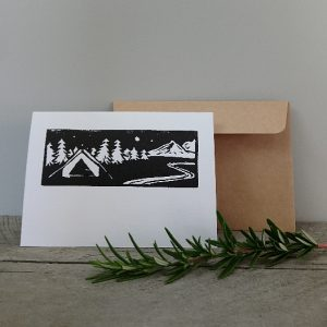 Handmade Greeting Cards New Zealand Margaret White Art Campsite
