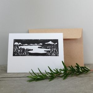 Handmade Greeting Cards New Zealand Margaret White Art Lake View