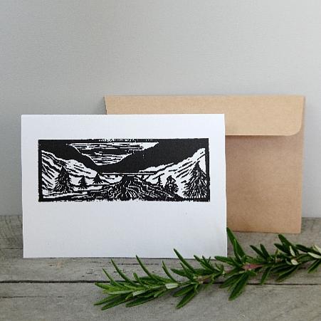 Handmade Greeting Cards New Zealand Margaret White Art River Bridge