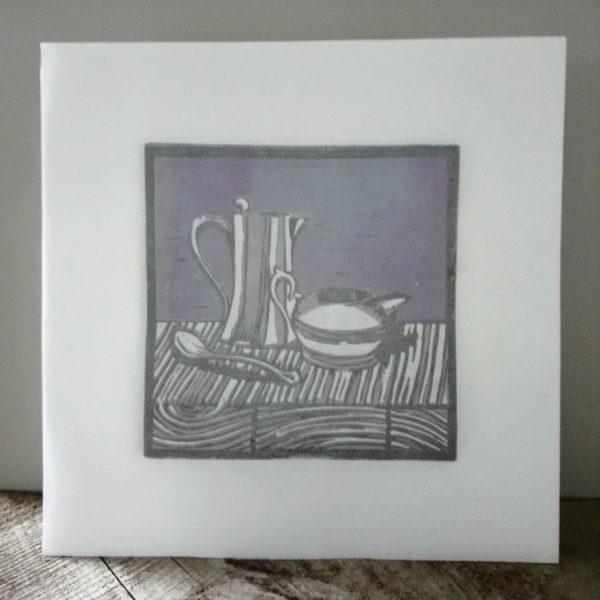 Art for tea lovers Milk jug and water jug