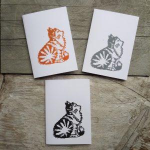 cat handmade greeting card