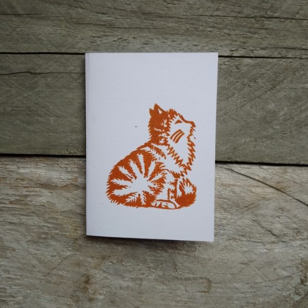 Ginger Cat handmade greeting card