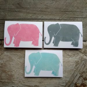 Elephant handmade greeting card
