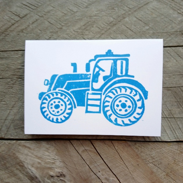 Tractor handmade greeting card