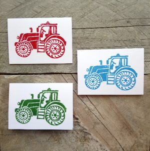 Tractor handmade greeting card