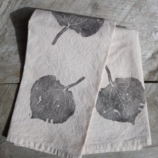 Kawakawa Leaf Tea Dyed Tea Towel Margaret White Art