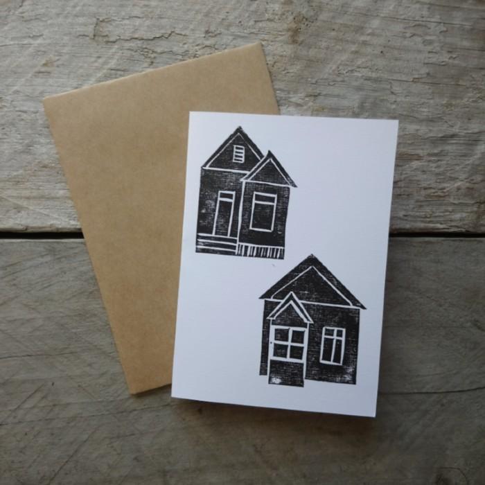 Margaret White Art Greeting Card Cottages