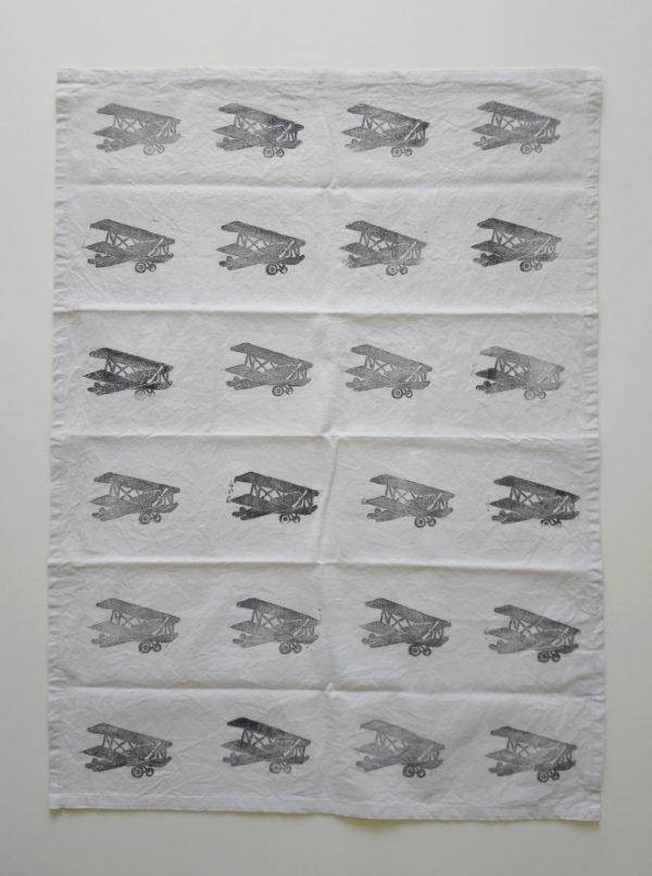 Margaret White Art Tea Towel Tiger Moth
