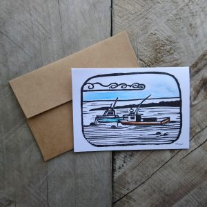 Fishing Boats Greeting Card Margaret White Art