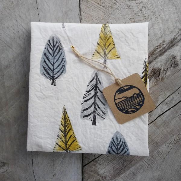 Margaret White Art Tea Towel Forest