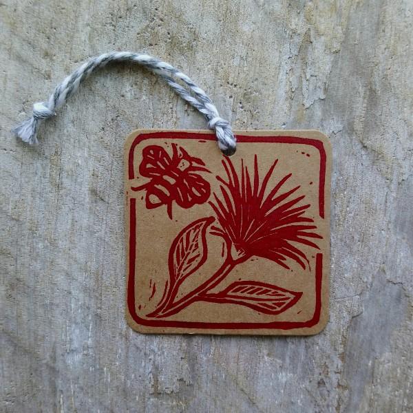 Handmade New Zealand Gift Tags Pohutukawa Margaret White Art
