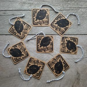 Handmade New Zealand Gift Tags Black Robin