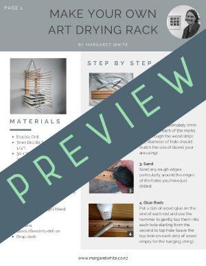 Make Your Own Art Drying Rack - Margaret White Art 1