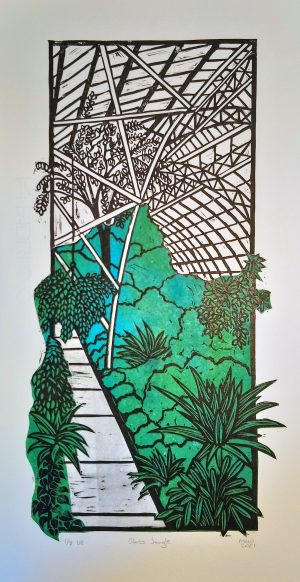 Christchurch Botanic Gardens Glass House Print
