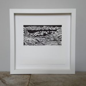 Margaret White Art Linocut Mount Sunday