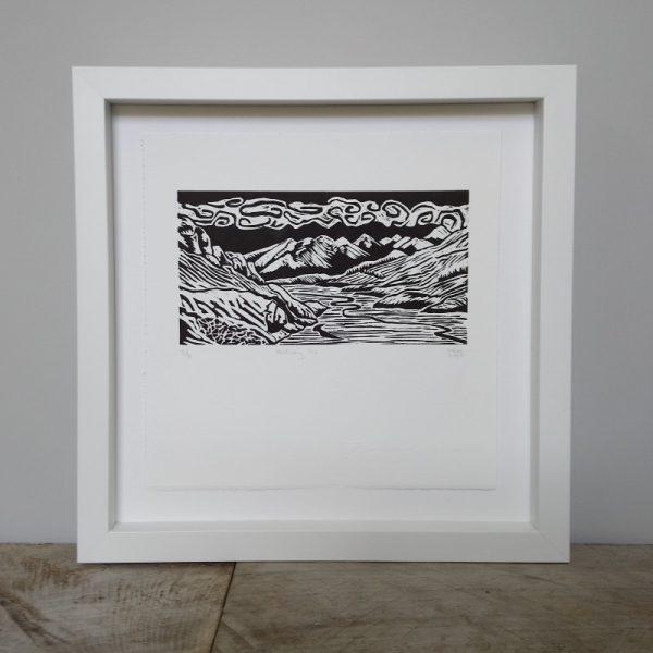 Margaret White Art Linocut Mount Sunday