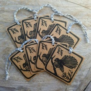 New Zealand Gift Tags Fantail Piwakawaka