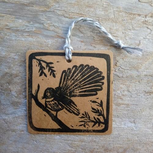 New Zealand Gift Tags Piwakawaka Fantail