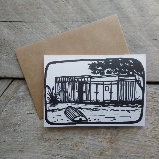 New Zealand Boatshed Greeting Card