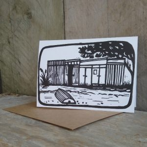 New Zealand Boatshed Greeting Card