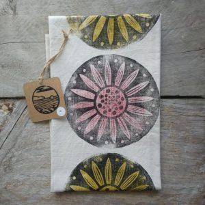 Margaret White Art Flowers Tea Towel